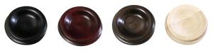 Coupelles en bois en fini noir, acajou, noyer ou naturel